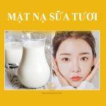 Cách trị mụn bằng sữa tươi không đường